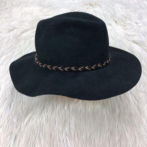 NWT Merona Black Wool Wide Brim Hat